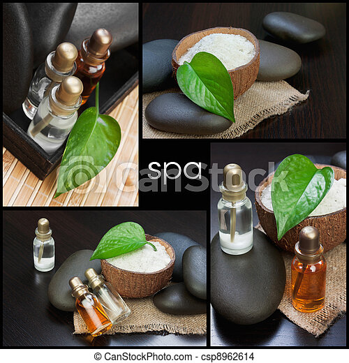 still-life subjects of relaxing spa - csp8962614