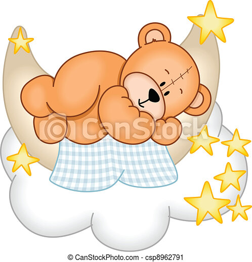 Sweet Dreams Teddy Bear - csp8962791
