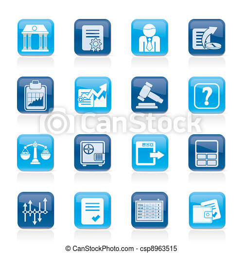 Stock exchange and finance icons  - csp8963515
