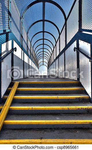 footbridge stairs pedestrian flyover - csp8965661