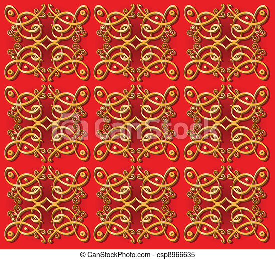 decorative oriental wallpaper background - csp8966635
