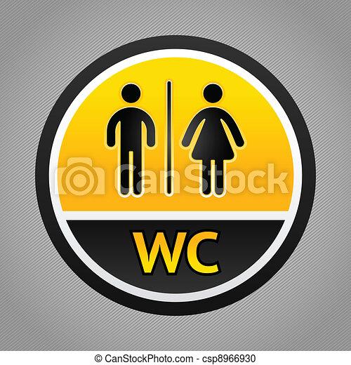 Restroom symbols - csp8966930