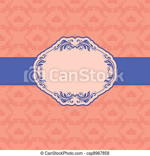 Template frame design for greeting card . - csp8967858