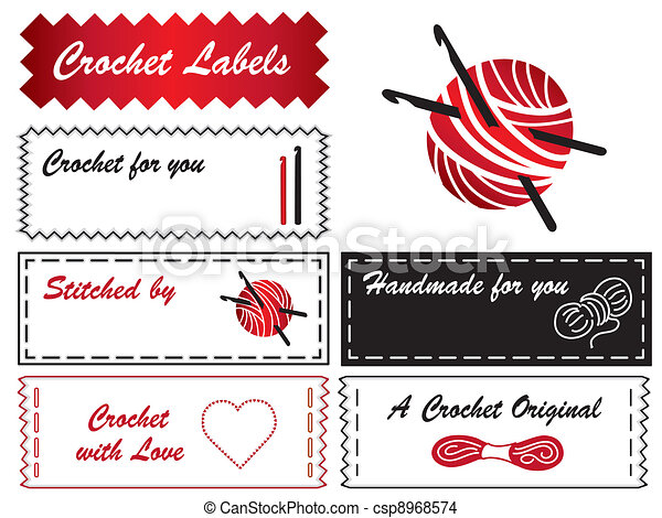 Crochet Labels - csp8968574