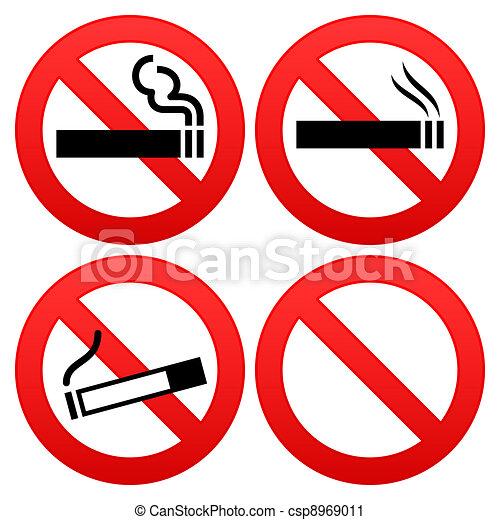 No Smoking Sign - csp8969011
