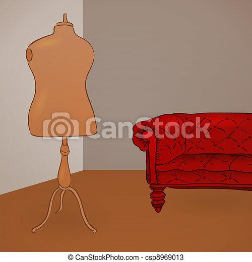Clothing Mannequin Illustration - csp8969013