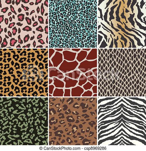 seamless animal skin pattern - csp8969286