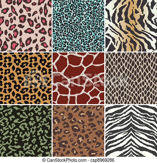 clip art vector of seamless animal skin pattern csp8969286