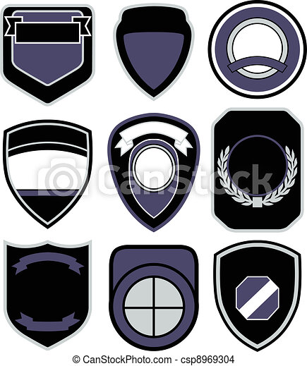emblem badge shield design - csp8969304