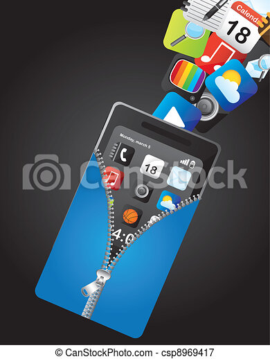 cellphone - csp8969417