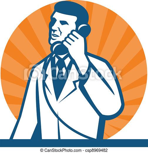Scientist Researcher Lab Technician Telephone - csp8969482