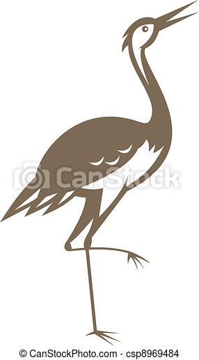 crane-heron-looking-forward - csp8969484