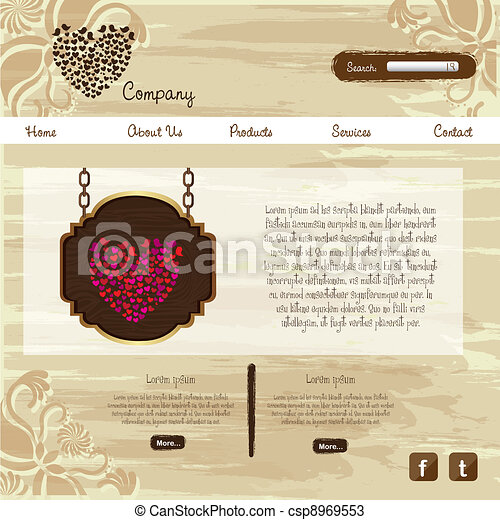 website design template - csp8969553