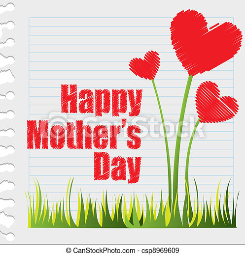 EPS Vectors of happy mother?s day - hearts flowers, happy mother?s ...