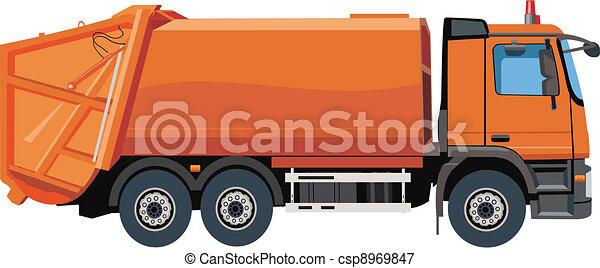 Garbage truck - csp8969847