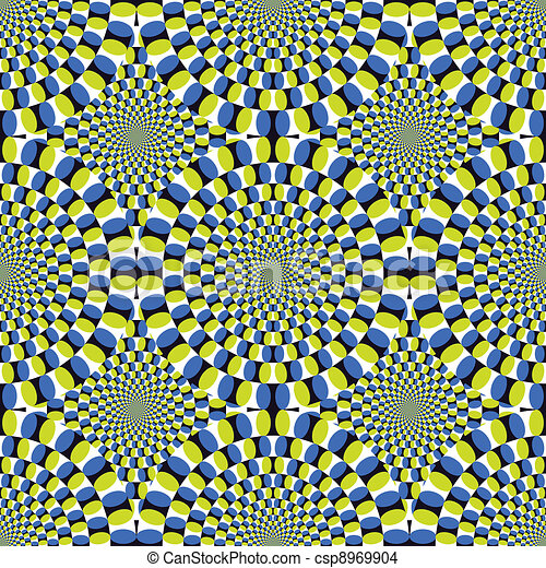 Vector optical illusion Spin Cycle background (EPS) - csp8969904
