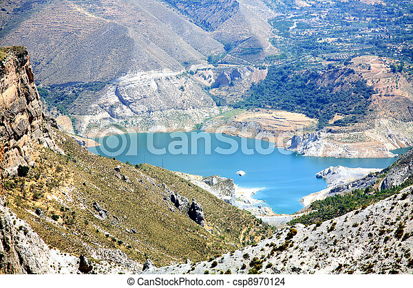 Scenic lake in the park Sierra Nevada Spain - csp8970124