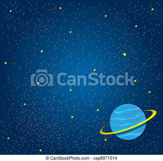 EPS Vector of space background - vector illustrator of ...
