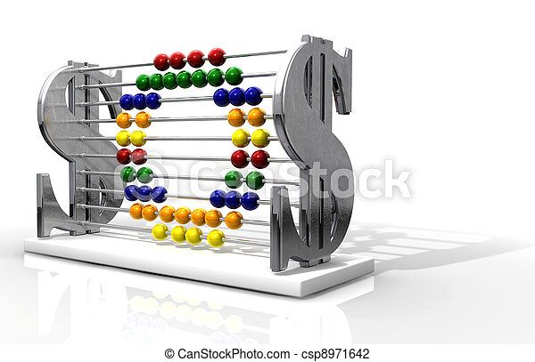 SOS Debt Abacus - csp8971642