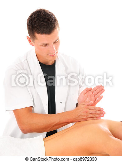Professional back massage - csp8972330