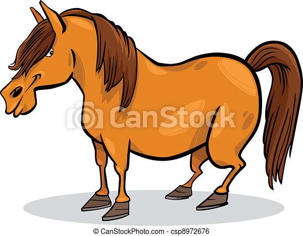 cartoon pony horse - csp8972676