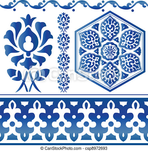 Some Islamic design elements - csp8972693