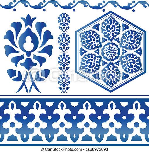 Some Islamic design elements - csp8972693