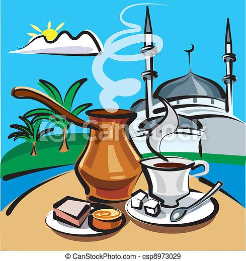 turkish coffee in istanbul  - csp8973029