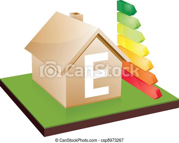 house energy efficiency class E - csp8973267