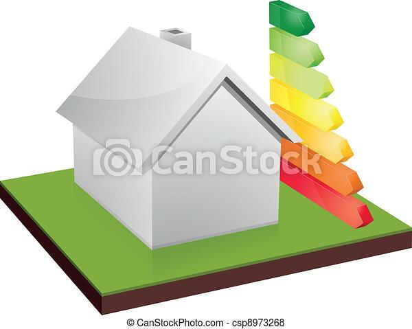 house energy efficiency - csp8973268