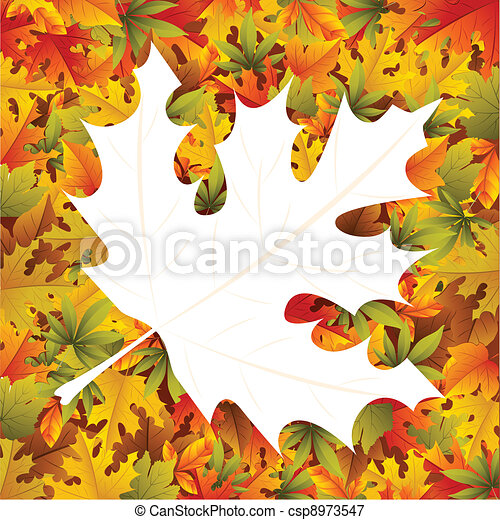 Maple Leaf Background - csp8973547