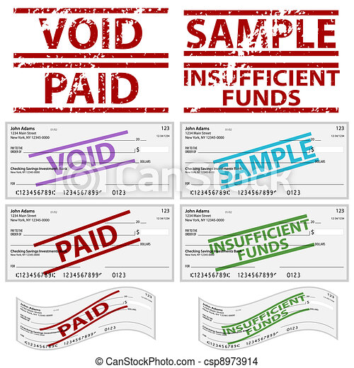 Stamped Personal Checks - csp8973914
