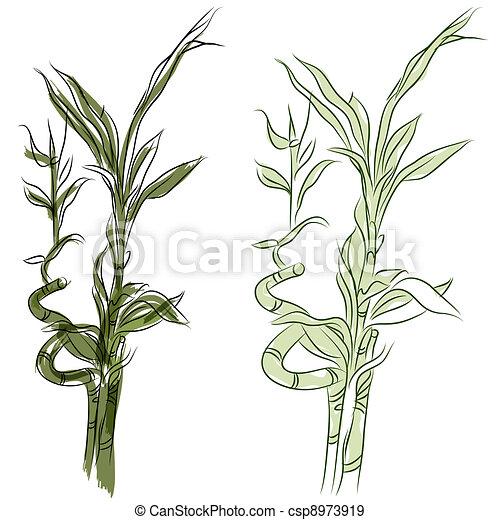 Vecteurs eps de plante bambou chanceux japonaise an for Plante japonaise