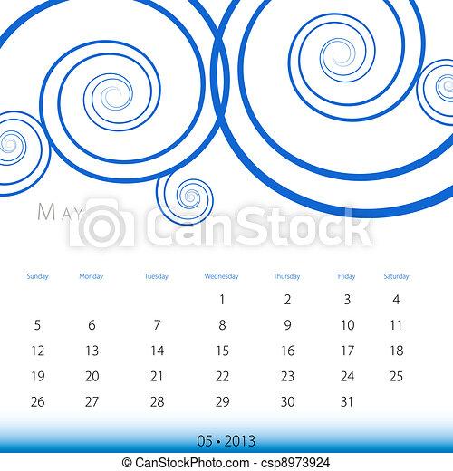 May 2013 Calendar - csp8973924