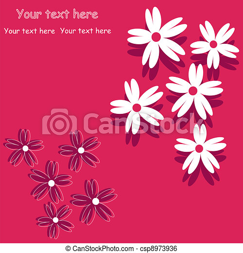 flower background for art projects, - csp8973936