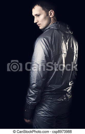 Young handsome man in sportswear - csp8973988