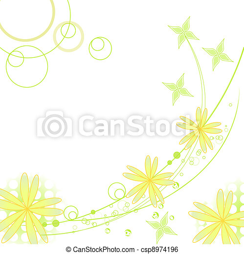 flower background for art projects - csp8974196