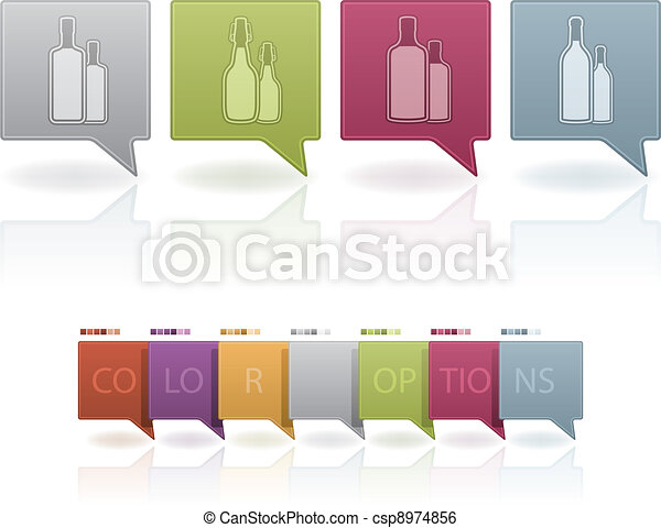 Alcohol glasses - csp8974856