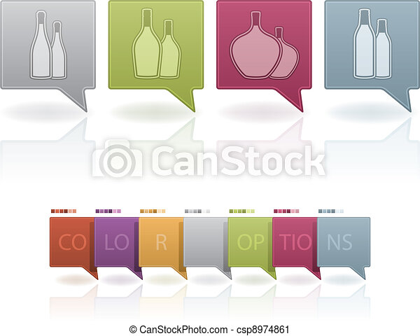 Alcohol glasses - csp8974861