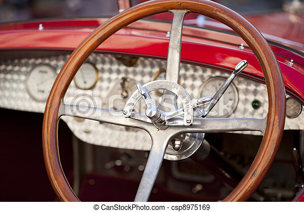 Wood steering wheel - csp8975169