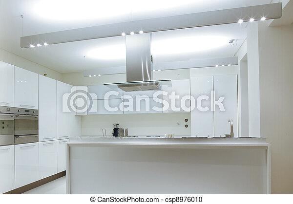 Photographies de moderne blanc cuisine bois plancher for Plancher cuisine bois