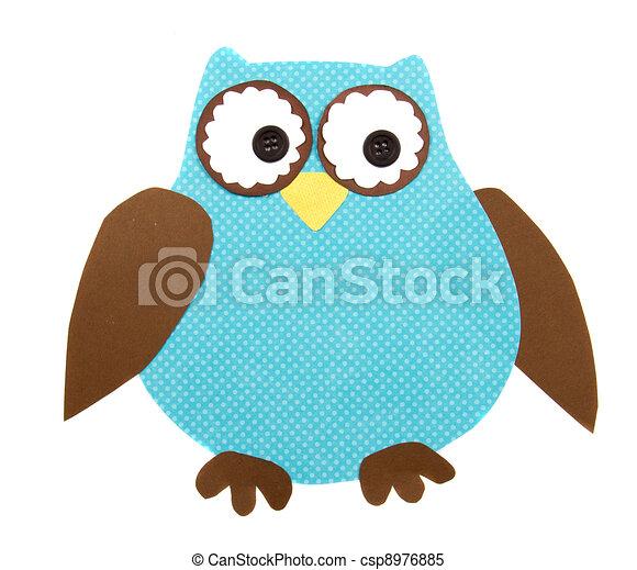 a paper cut out owl - csp8976885
