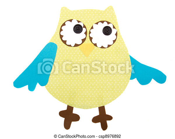 paper cut out owl - csp8976892