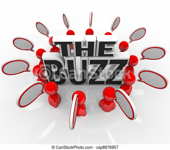 The Buzz People Talking in Speech Bubbles Latest News - csp8976957
