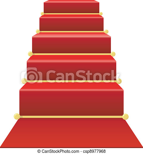 Vector de escalera rojo alfombra escalera con rojo for Escaleras con alfombra