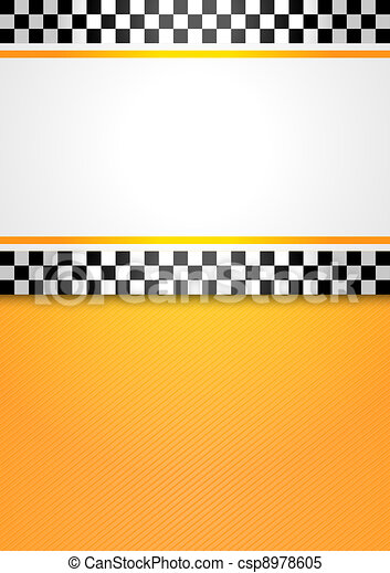 Taxi cab blank background - csp8978605