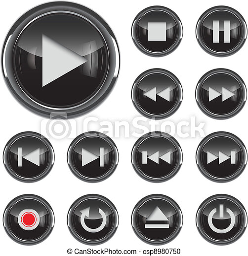Multimedia icon set - csp8980750