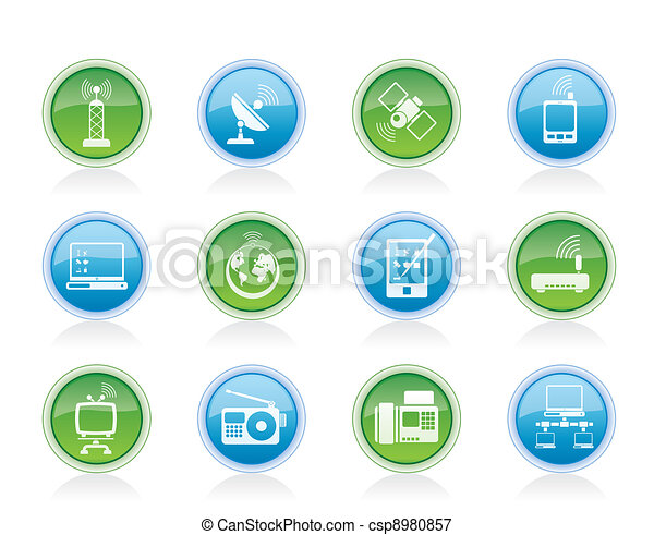communication and technology icons - csp8980857