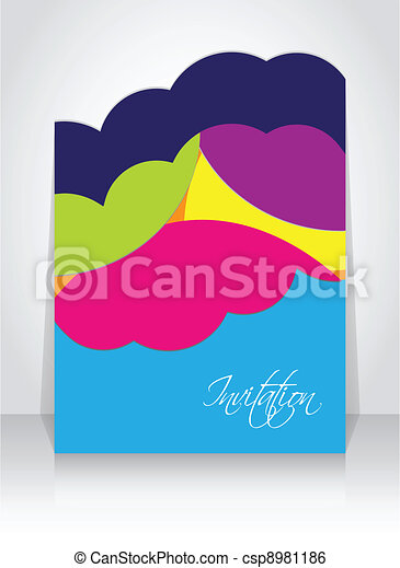 abstract  brochure with special design - csp8981186
