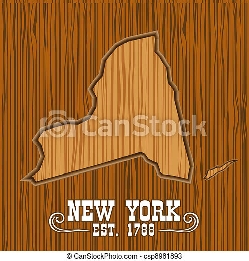 New york wood map - csp8981893
